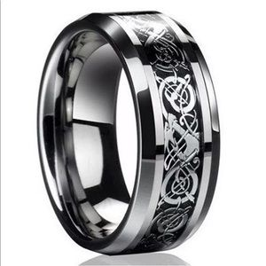 Other - Celtic Dragon Titanium Stainless Steel Band Ring